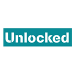 Green unlocked logo on white background in Square